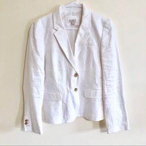 J. Crew Factory Jackets & Coats - J. Crew White Linen Schoolboy Blazer Sz 12